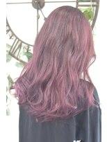 ヘアーサロン エール 原宿(hair salon ailes)(ailes 原宿)style370 デザインカラー☆ヴァイオレットレッド