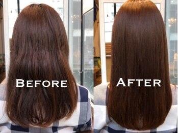ディフィー(defi)の写真/ただのストレートではなく、傷みが目立たない自然な仕上がりに。手触り・まとまり感も◎扱いやすい髪質に♪