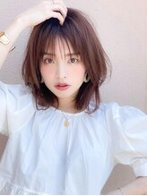 アグ ヘアー シアン 高槻店(Agu hair cyan)《Agu hair》シースルーの透け感×涼しげミディ