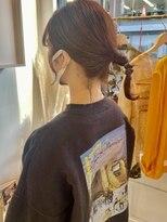 ヘアーアイスカルテット(HAIR ICI QUARTET)テラコッタ オレンジカラー 暖色系カラー ヘアアレンジ