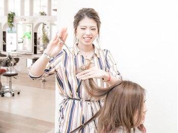 ウィズ 成田公津の杜店(Wiz)の写真/実力派女性スタイリスト在籍☆細かな気配りとゆったり落ち着いた店内で心地よいサロンTimeを♪