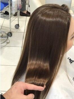 モードケイズ JR茨木improve店(MODE K's)の写真/【JR茨木3分】髪質改善で話題の酸熱トリートメント[ビハール カルボンド]本物の艶・ハリ・コシが手に入る。