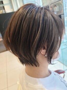 アース 浦安店(HAIR&MAKE EARTH)の写真/一人一人のクセ、骨格を見極めあなただけのオリジナルショートヘアに仕上げてくれます♪