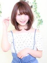 オーガニックサロン フェイス 梅田店(organic salon face)ひし形シルエットでかわいい春のピンクベージュ