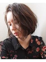 アン ヘア デザイン(un hair design)【 un 】ボブ×ほつれウェーブ×グレージュ