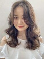 キラ 原宿 表参道(KILLA)韓国 前髪カット エアリーミディ シアグレージュ 榎園由美