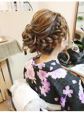浴衣 髪型 小学生