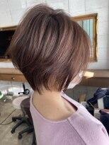 フローレス バイ ヘッドライト 三鷹店(hair flores by HEADLIGHT)#春色ピンクグレージュ×抜け感ショート