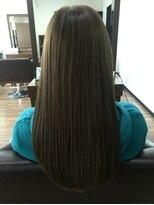 アールピクシー(Hair Work's r.Pixy)ロング×モノトーンネイビーカラー