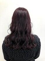 ヘアーアイストゥーレ(HAIR ICI TRE)ツヤパープルレッドカラー