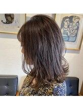 アルマヘアー(Alma hair by murasaki)オイルカラーでネイビーアッシュブラウン◎