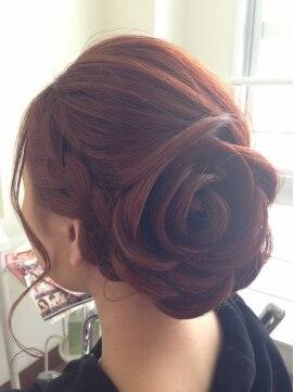 結婚式 髪型 ロングヘアアレンジ お花セット
