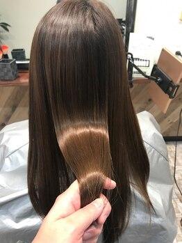 マチルダ ヘア プライベート(Matilda hair private)の写真/【藤井寺駅前】縮毛矯正ならMatilda hairにお任せ◎縮毛矯正+カラーも同時にOK!理想のストレートヘアに☆