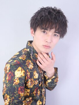 アルバム シンジュク(ALBUM SHINJUKU)ツイストパーマコンマヘアかき上げヘア_55159