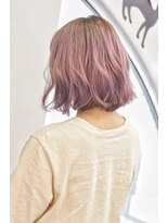 ヘアーサロン エール 原宿(hair salon ailes)(ailes 原宿)style395 デザインカラー☆ピンクベージュ
