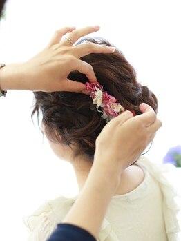ブライダル ヘアメイク メリア(Bridal Hair Make MERIA)の写真/【南森町】本格ブライダル/ヘアメイク/着付け専門サロン★高い技術力を持つ、経験豊富なプロたちが集結!