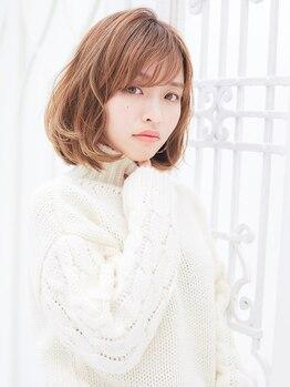 ヘアスタジオ ガロウ(hair stuido garou)の写真/【津志田】25歳からの大人女性の為の似合わせダメージレスカラー!色もち良く透明感溢れるスタイルが叶う♪