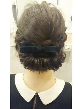 結婚式の髪型(ヘアアレンジ)   ロールアップスタイル