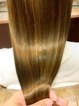 ネオヘアー 南森町(Neo hair)の写真/【南森町徒歩30秒】お手頃価格で手触り柔らかい自然な夢のストレートを実現します♪通うほど綺麗な艶髪に★