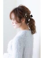 【aRietta 秋山すみれ】カジュアルヘアアレンジ×ポニーテール