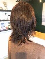 アミィヘアー(Ami Hair)大人ピンクアッシュ×ポイントパーマ×レイヤースタイル
