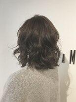 フレイムスヘアデザイン(FRAMES hair design)ボヘミアンムード漂うミディ×【艶感】イルミナグレージュ