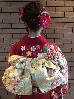 """カプチーノコトナ(Cappuccino.kotona)の写真/""""お電話にて要予約""""結婚式・成人式などの大事なイベントにお着物で。特別な一日を華やかに演出します。"""