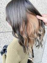 イメチェン黒髪×イヤリングカラー×インナーカラー