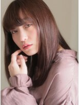 キース ヘアアンドメイク(kith. hair&make)恵比寿kith.本田×厚めバングのうるツヤロング