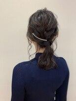 ピエドプールポッシュ(PiED DE POULE POCHE)*arrange hair *