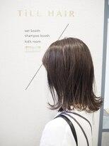 ティルヘアー(TiLL HAIR)モノグレージュ×N.オイル 透明感 赤みゼロカラー