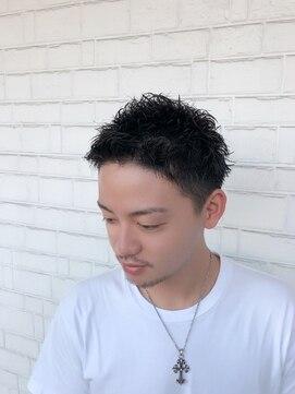 ルアウ 夙川店(LUAU)男らしくなりたいメンズ達へ送るツーブロックワイルドショート☆