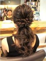 エイトヘアー(eight. hair)フィッシュボーン*ローポニー