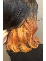 ロルド ポワール(Rold poire)【TAKUYA】インナーカラー×オレンジ