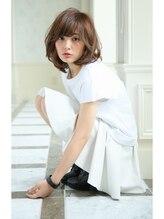 ヘアーアンドファッションシオミエイチ (hair&fashion shiomi H)フリンジバングアンニュイマッシュボブ【スポンテニアス】