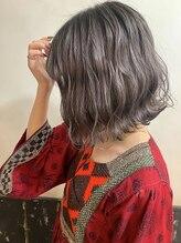 オーストヘアー 銀座(Aust hair)ケアブリーチ☆ラベンターグレイグラデーション