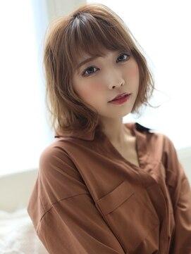 アグヘアー マーク 酒田下安店(Agu hair marc)大人かわいいゆるフワボブ