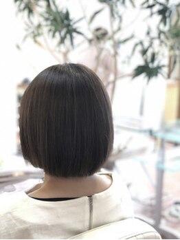 ヘアメイク ロココ(Hair Make Rococo)の写真/【諦めていたくせ毛に】纏まらない髪は人気のCureエステで可愛く変身♪乾かすだけで決まるサラつやヘアに♪