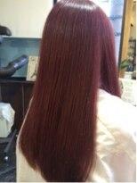 黒髪のラブ&グラマラスな艶々パールピンクストレート♪画像