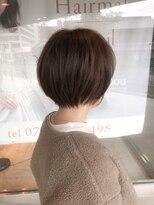 ヘアメイク シュシュ(Hair make chou chou)ことりベージュ毛先パーマ黒髪30代40代