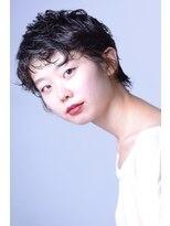 ヘアーアイスカルテット(HAIR ICI QUARTET)ショート × パーマ × 黒髮