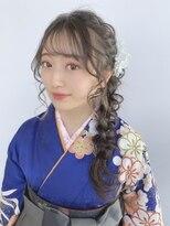 サイド編み込み/編みおろし/卒業式/袴/崩れないヘアスタイル