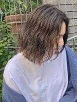 レア 渋谷(Le'a)Le'a【染谷直樹】大人可愛い毛束感が可愛いボブヘア 小顔
