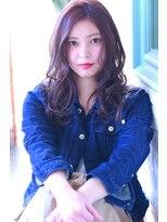 【Creo】寒色系カシスピンク#くびれセミディ#ローライト#韓国風