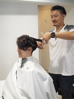 メンズ ヘアープロデュース フェード(Men's hair produce FADE)の写真/《人気急上昇中のメンズ専用salon》メンズスタイルに特化したオ-ナ-があなたの悩みや理想に合わせてご提案