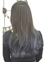 ヘアーサロン エール 原宿(hair salon ailes)(ailes原宿)style310 デザインカラー☆濃紺グラデーション
