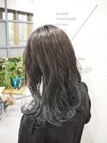 ティルヘアー(TiLL HAIR)グラデーションアクセントカラー/ネイビーグレー/ヨシンモリ巻き