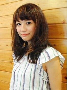 """ヘアデザイン モーク(Hair Design MO KU)の写真/明るく元気なスタイルも、女性らしいふんわりスタイルもOK☆あなたの""""なりたい""""を引き出してくれる♪"""