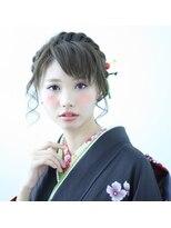 編み込みヘアアレンジ☆和装・成人式ヘア