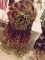 アチーブ 姫路店(Achieve)【Achive】お花の編み込みハーフ Stylist平石